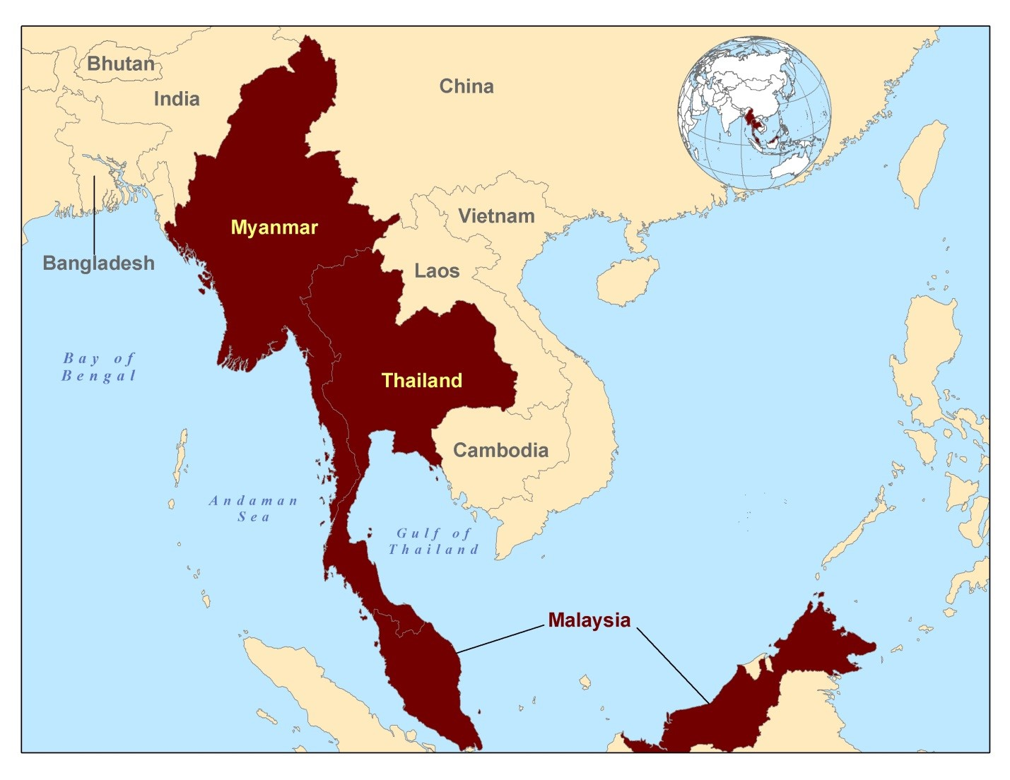 Myanmar On Map Of Asia.Background Burmese Immigrant And Refugee Health Cdc