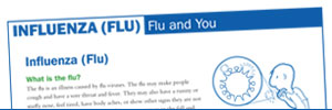 First page of the influenza document titled 'Flu and You.'