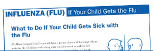 First page of the influenza document titled 'If Your Child Gets the Flu.'