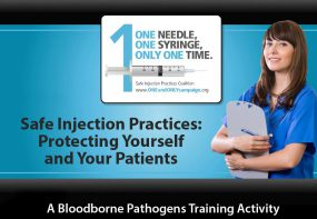 Bloodborne pathogens training.