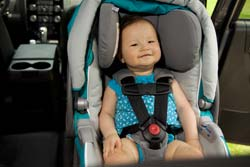 Baby in a rear-facing car seat