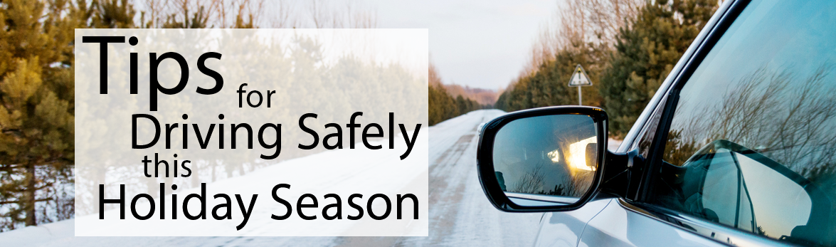 Image showing a car on an icy road: Tips for Driving Safely this Holiday Season