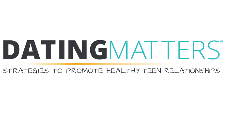 Screenshot of the cover of Dating Matters material showing a teen girl
