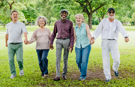 Image of a smiling group of older adults
