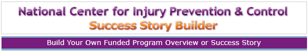 National Center for Injury Prevention Story Builder