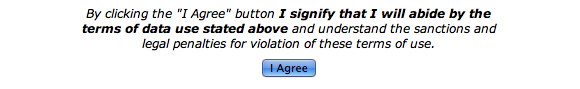 Image: Screen capture showing the I Agree disclaimer for selecting the restricted option.