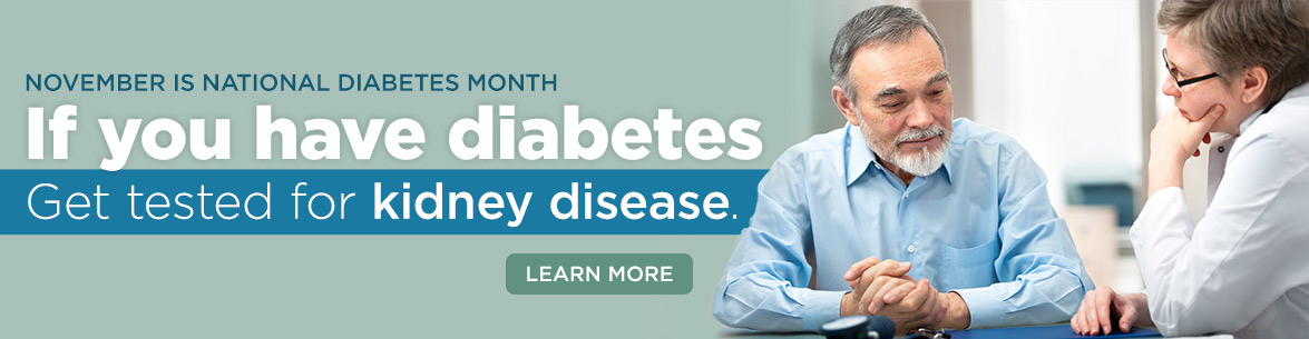 Diabetes month is November.