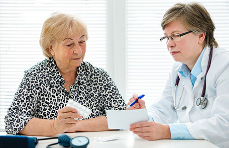 Doctor reviewing results with patient.