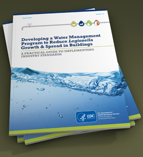 Cover of toolkit about developing a Legionella water management program