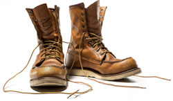 Image of work boots.