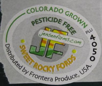 a picture showing the label found on the contaminated cantaloupes