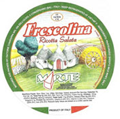 Photo: Imported Frescolina Marte Brand  Ricotta Salata Cheese