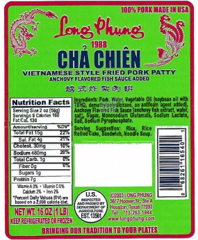 Label of packaging