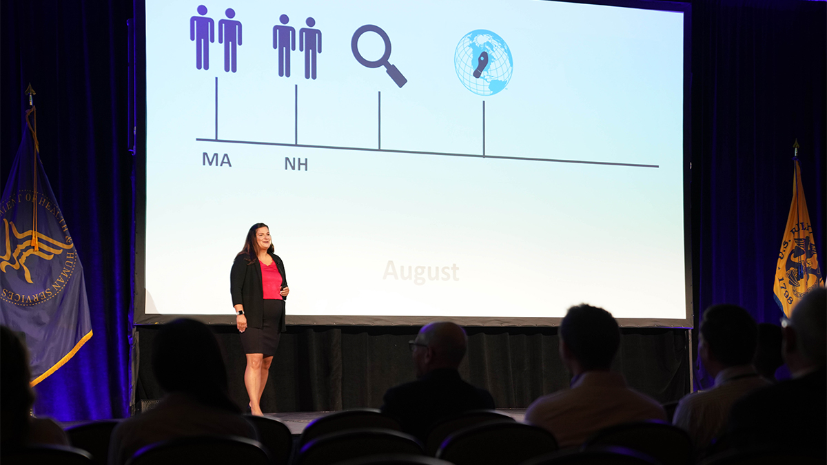 LLS fellow delivers TED-style talk at EIS conference.