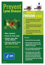 Lyme disease prevention bookmark image