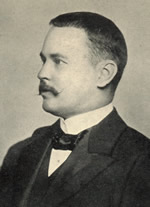 Phtotgraph of Ronald Ross in 1899.