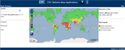 A thumbnail view of the Malaria Map Application.