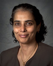 Dr. Suchitra Acharya, the hematologist at Cohen Children's Medical Center who initiated Kelly's exchange transfusion to reduce the level of malaria parasites in her blood.