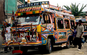 "Picture of a ""tap-tap"" bus in Haiti."