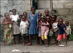Malaria is a frequent but unwelcome visitor to the children of Africa. (Courtesy: National Malaria Control Program, Democratic Republic of Congo)