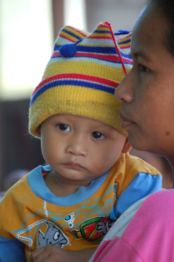 The lives of many Indonesian children will be saved through the use of effective malaria prevention and control interventions. Credit: David Townes, CDC