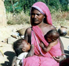 A picture of a woman breastfeeding.