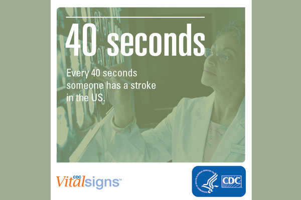Every 40 seconds, someone has a stroke in the US