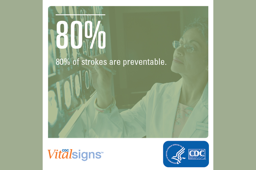 80% of strokes are preventable