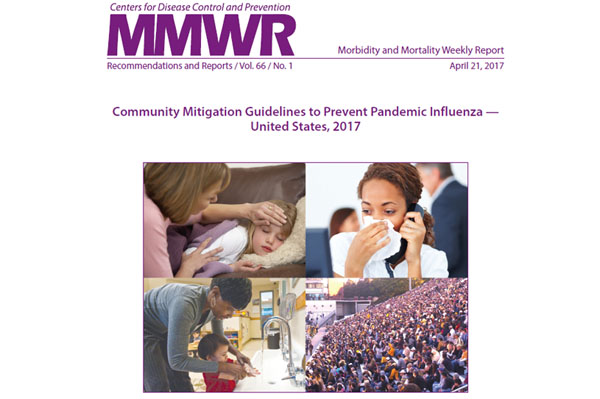 MMWR Cover for Community mitigation