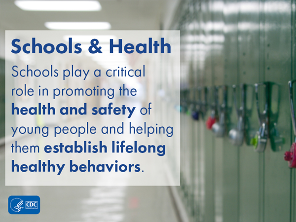 Schools play a critical role in promoting the health and safety of young people and helping them establish lifelong healthy behaviors.