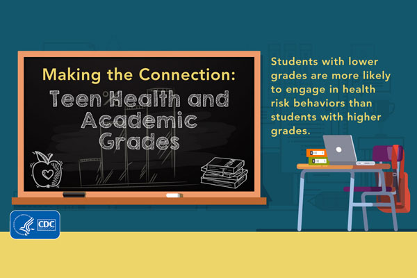 Making the connection: Teen health and academic grades. Students with lower grades are more likely to engage in health risk behaviors than students with higher grades.