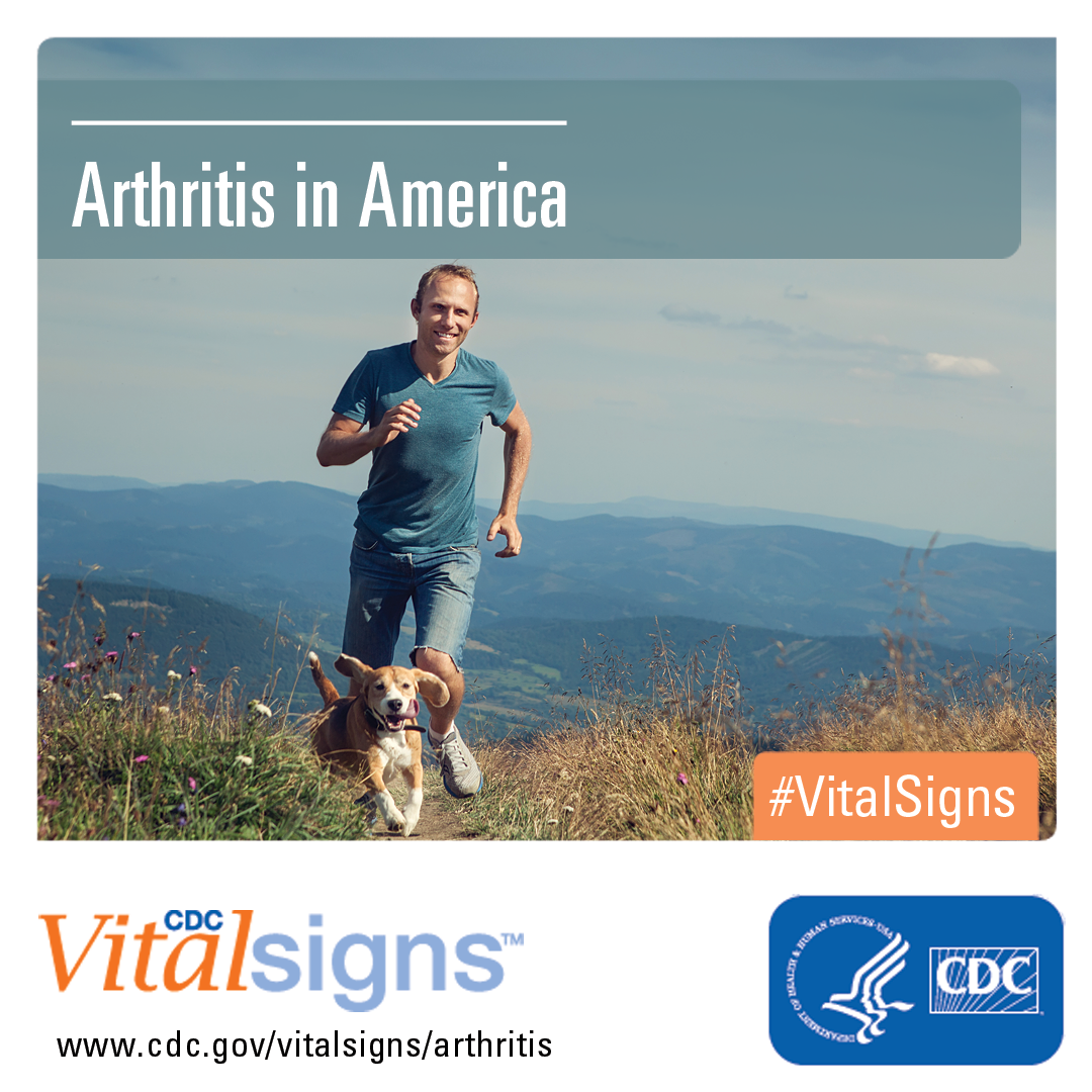 Arthritis in America - a man running through hills with his dog