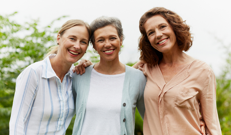 Three middle aged women
