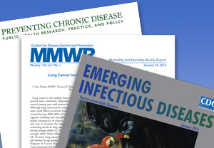 Graphic: Image of three CDC journal covers