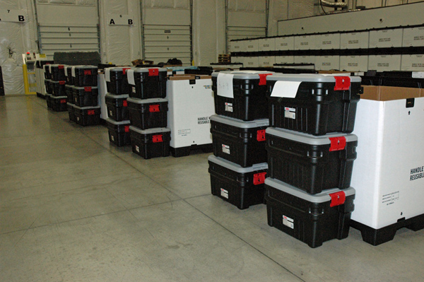 The Strategic National Stockpile is receiving new orders of personal protective equipment to assemble kits that can be rapidly deployed to a U.S. hospital that receives an Ebola patient. Each kit has enough equipment to care for one Ebola patient for up to five days until other supplies can be located.