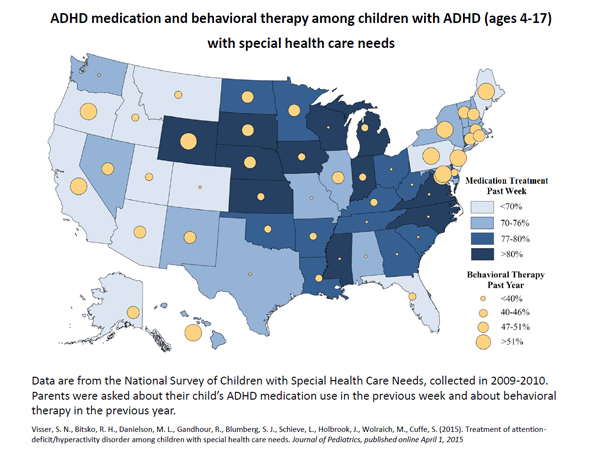 ADHD medication and behavioral therapy among children with ADHD (ages 4-17) with special health care needs