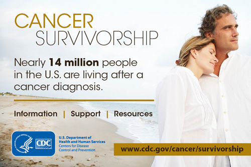 Cancer Survivors: Nearly 14 million people in the U.S. are living after a cancer Diagnosis