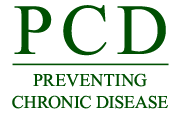 Logo: Preventing Chronic Disease Weekly Press Summary