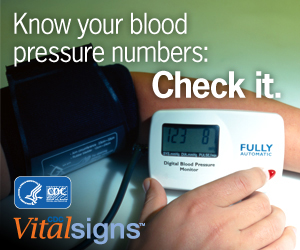 Know your blood pressure numbers: Check it.
