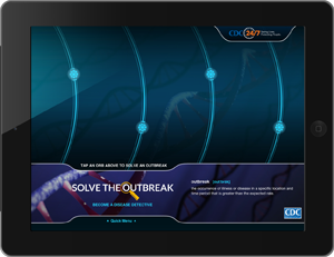Photo: Try CDC's new iPad app: Solve the Outbreak (Where you get to be the disease detective!)