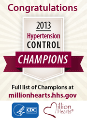 Nine diverse practices, health systems recognized for excellent rates of high blood pressure control.