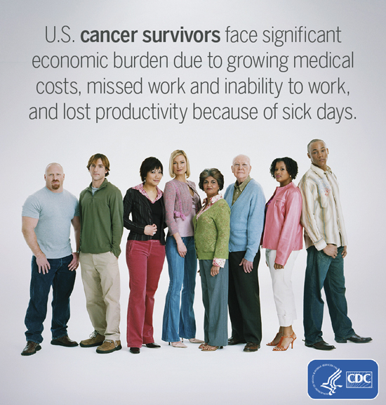 Photo: U.S. cancer survivors face significant economic burden due to growing medical costs, missed work and inability work, lost productivity because of sick days.