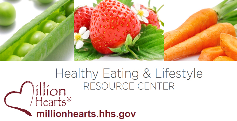 Photo: Peas, strawberries and carrots; Healthy Eating and Lifestyle resource center; Million Hearts; millionhearts.hhs.gov.