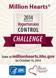 Infographic: Million Hearts® 2014 Hypertension Control Challenge.