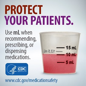 Protect Your Patients. Use mL when recommending or prescribing medications.