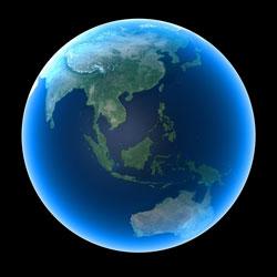 Image of world globe.