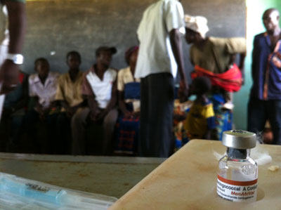 Photo of the MenAfriVac vaccine in Burkina Faso.