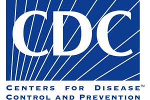 CDC logo with blue background and white text