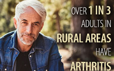 "The figure above is a CDC infographic showing an older man with the caption: ""1 in 3 Adults in Rural Areas Have Arthritis."""