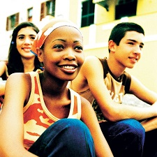 The figure above is a photograph used in the Food and Drug Administration's The Real Cost campaign showing three adolescents.
